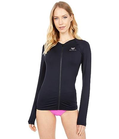 Roxy Essentials Long Sleeve Zipped Rashguard (Anthracite) Women