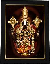 101 Temples Wooden Hrudaya Lakshmi Narayana Photo Frame, Multicolour