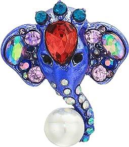Elephant Button Stud Earrings