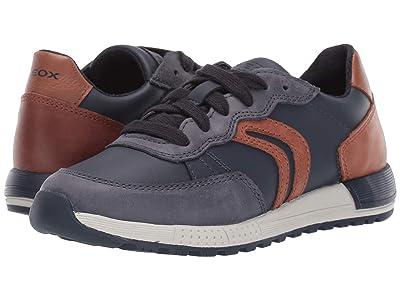 Geox Kids Jr Alben 8 (Little Kid/Big Kid) (Blue/Brown) Boys Shoes