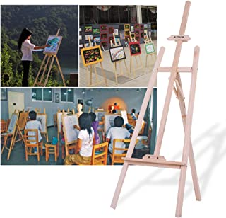 Other Aibecy Durable Art Artist Wood Wooden Easel Sketch Drawing Stand NZ Pine for Painting Sketching Display Exhibition, ...