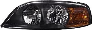 HEADLIGHTSDEPOT Chrome Housing Halogen Left Driver Headlight Compatible With Fleetwood American Tradition 2001-2002 Motorhome RV