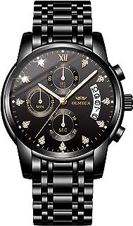 OLMECA Relojes de pulsera de lujo para hombre Relojes de cuarzo resistente al agua Moda Relojes de cuarzo reloj de mujer reloj de acero inoxidable