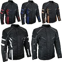 Herre Sportliche Textil Motorrad Jacke,Motorradjacke Schwarz Orange Gr.M bis 5XL