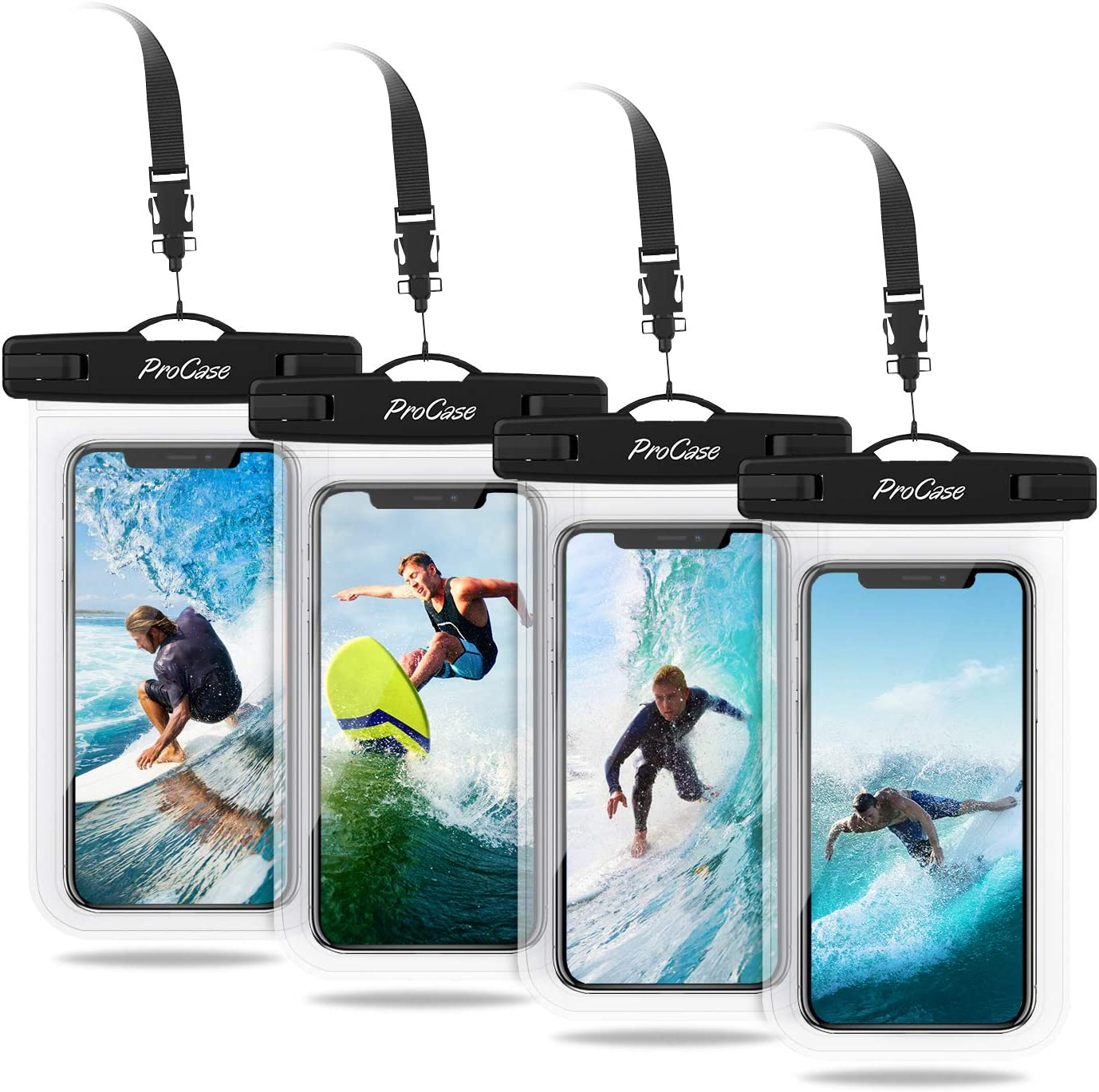 ProCase Universal Cellphone Waterproof Pouch Dry Bag Underwater Case for iPhone 13 12 Pro Max 11 Pro Max 13 Mini Xs Max XR X 8 7 6, Galaxy S20 Ultra S10 Note10 up to 7