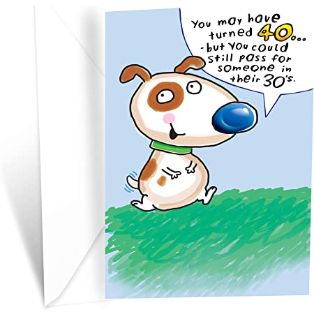 Amazon Com Prime Greetings Funny Happy 40th Birthday Card Office Products