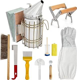 Blisstime 10 Pcs Beekeeping Supplies Tool Kit Beekeeper Bee Smoker