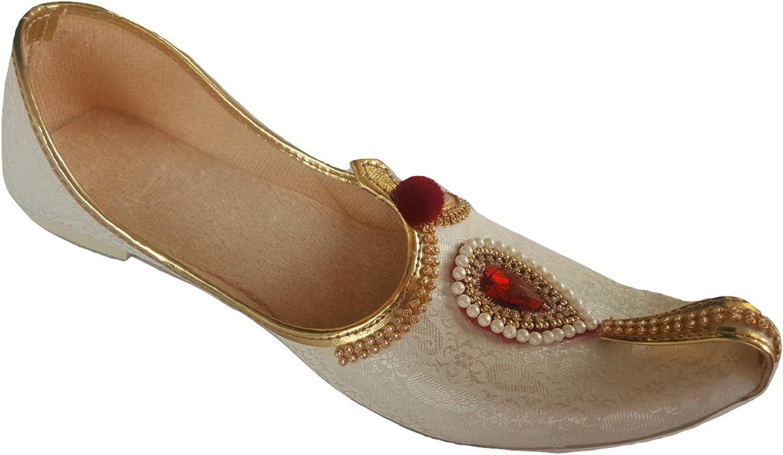 Aura Mens Punjabi Jutti Traditional Indian Khussa Flat shoes Ethnic Mojari UK Size 7-12 WP