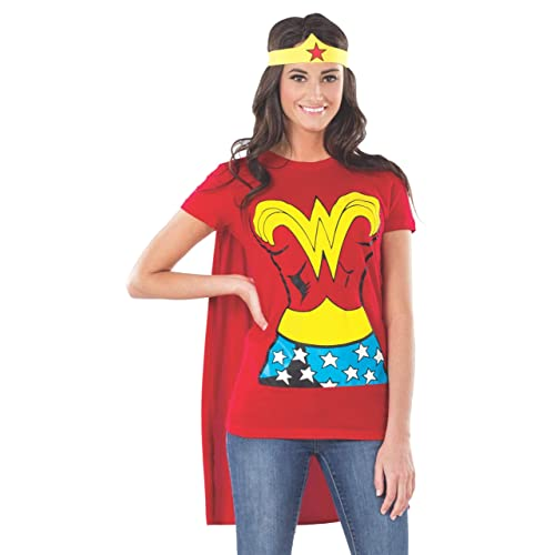 46aa9309 Rubie's Official Ladies Wonder Woman T-Shirt Set Adult Costume - X-Large