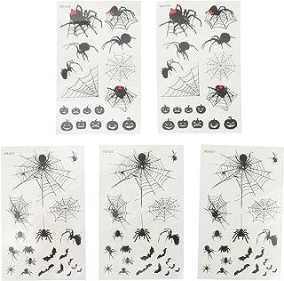 Beaupretty 5Pcs Spider Tattoos Decals Halloween Sticker Voor Halloween Decoratie