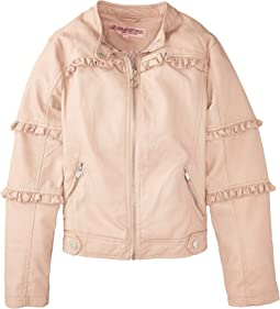 Bella Faux Leather Ruffle Jacket (Little Kids/Big Kids)