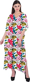 RADANYA Women Caftan Bathing Suits Cover Up Floral Print Kaftan Beach Maxi Dress