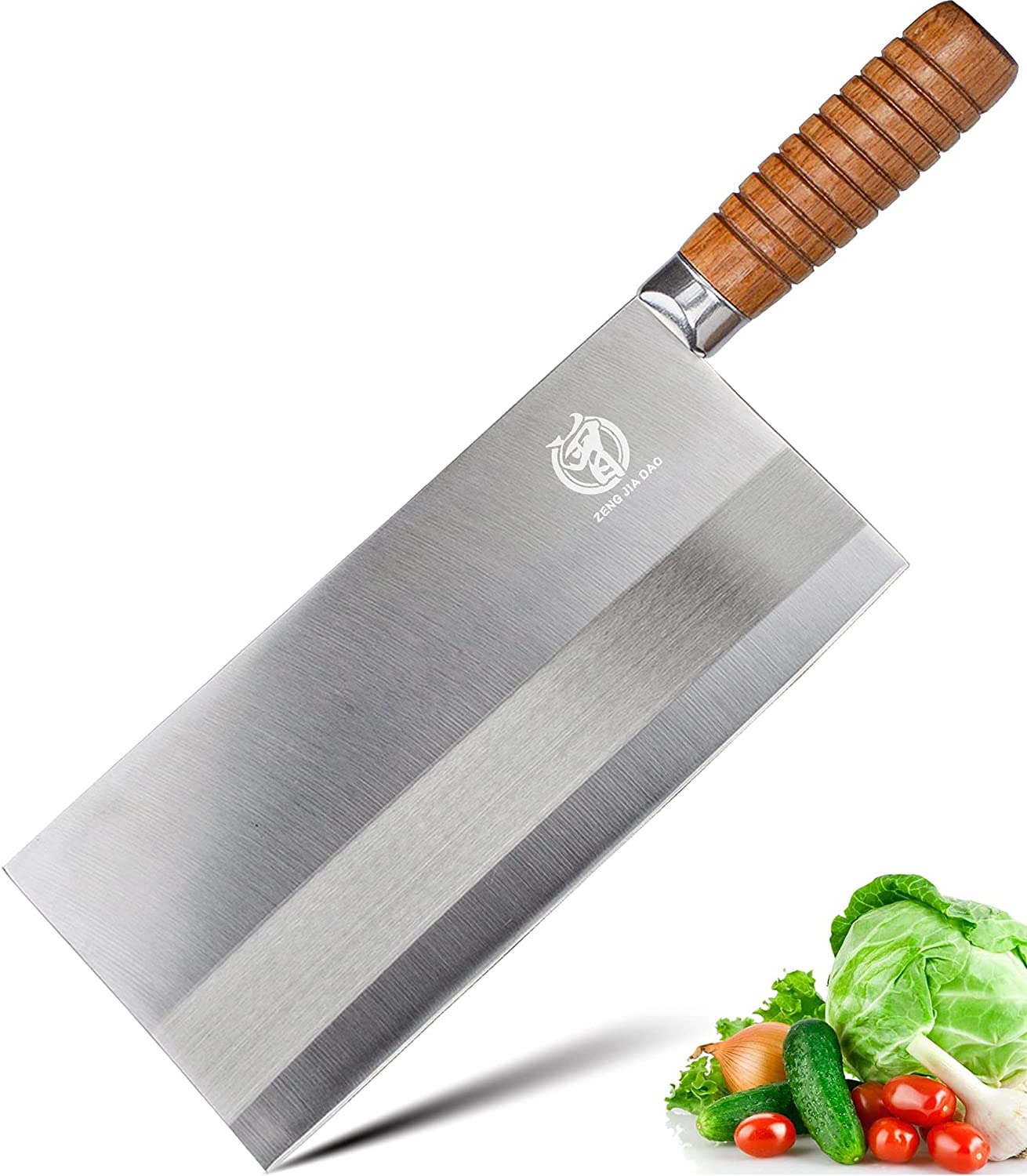 Vegetable Cleaver 8 '' Chinese Stainless Chef's Virginia Beach Mall Steel Kitc Popular brand in the world Knife