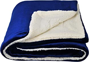 (130cm 150cm , Blue) - Sherpa Throw Blanket 130cm 150cm ,Blue Blanket for Couch, Car or Bed by SOCHOW (Blue)