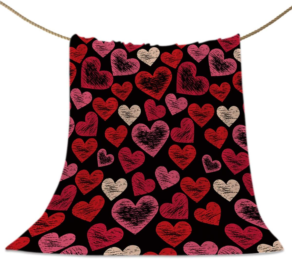 HELLOWINK Throw Blankets SEAL limited product for service Couch Bed Valentine's Love Re Sofa