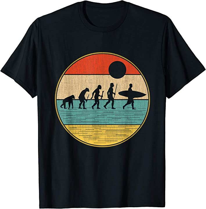 Maglietta da surfista - t-shirt evoluzione del surf retrò RESRSAY92ZT