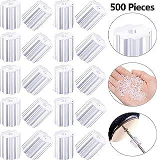 500 Piezas de Tapones Transparente de Goma de Seguridad de Pendiente para Pendientes de Gancho Anzuelo