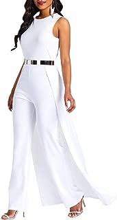 Patchwork Overlay Embellished Plain Women's Jumpsuit High-Waist Woman Romper