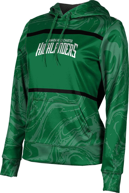 ProSphere Granada Hills Charter High School Girls' Pullover Hoodie, School Spirit Sweatshirt (Ripple)