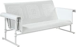 Crosley Furniture CO1028-WH Veranda Sofa Glider, Alabaster White