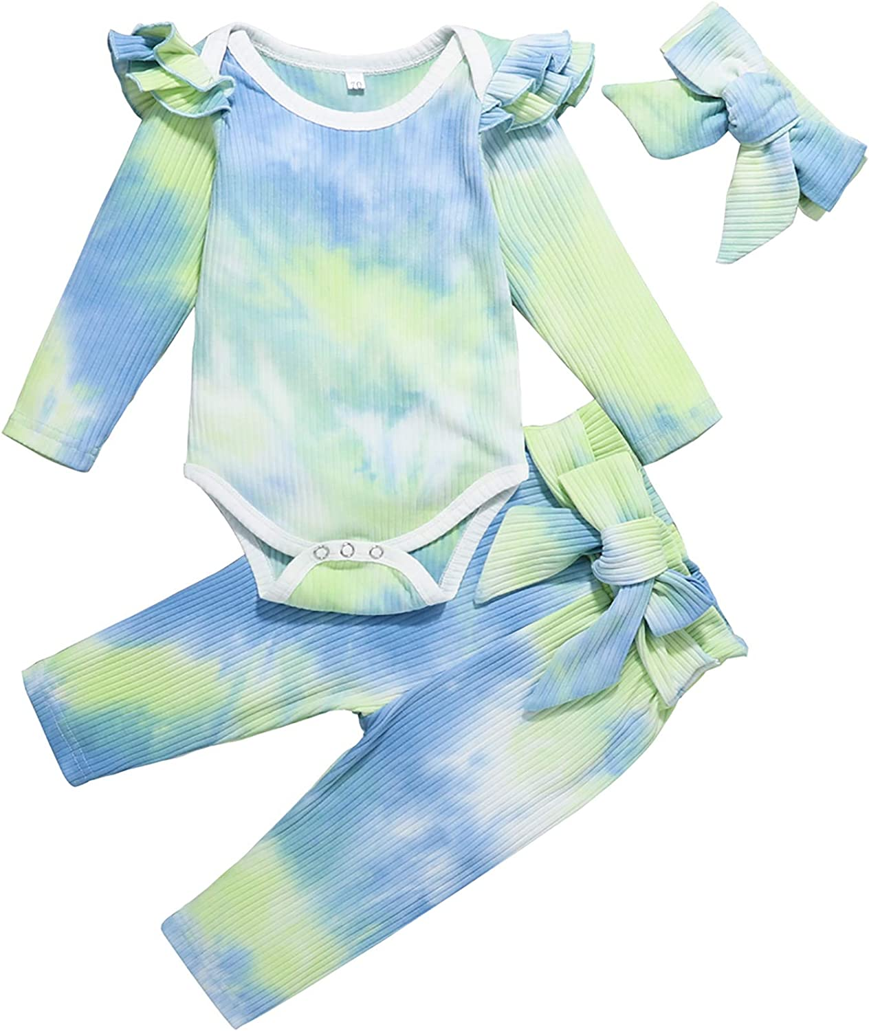 Kionio Baby Girl Clothes Outfits Ruffle Shirt Sleeve Tops OFFicial store Soldering Long B