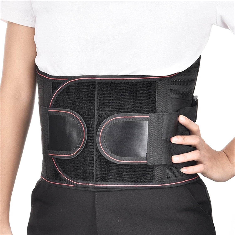CinturóN De Soporte Lumbar OrtopéDico con Placas De Acero Y Terapia De Calor - Tirantes Traseros para Alivio De Dolor De Espalda Baja para Hombres Mujeres S Negro
