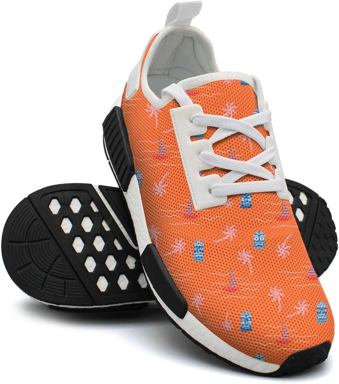 orange Hot colors Aloha Hawaii Ocean Women's Novelty Lightweight Sneakers shoes Gym Outdoor Running shoes