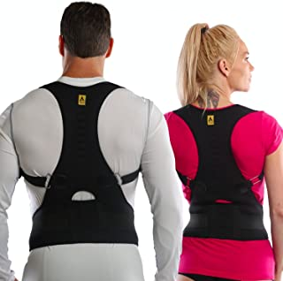 Agon® Thoracic Back Brace Posture Corrector - Magnetic Support for Back Neck Shoulder Upper Back Pain Relief Perfect Product for Cervical Spine Fully Adjustable with Magnets (Large/X-Large)