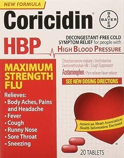 Coricidin Hbp Maximum Strength Flu, 20Count