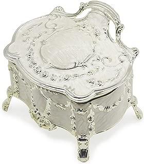 AVESON Luxury Vintage Metal Alloy Jewelry Box Ring Trinket Case Christmas Birthday Gift, Medium