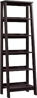 Sauder Trestle 5 Shelf Bookcase, Jamocha Wood finish