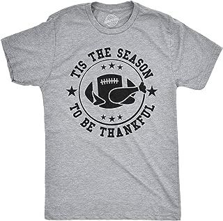 Tis The Season to Be Thankful Funny Thanksgiving Football Tshirt