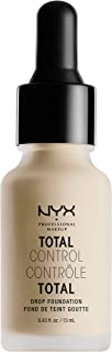 NYX PROFESSIONAL MAKEUP Total Control Drop Foundation, Vanilla, 0.43 Fl Oz