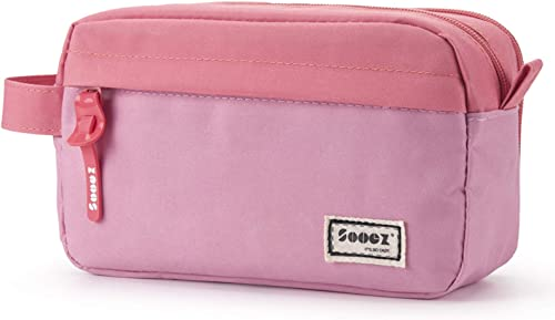 Sooez High Capacity Pencil Case for Girls, Durable Pen Pencil Bag Stationery Zipper Pouch, Portable Journaling Suppli...