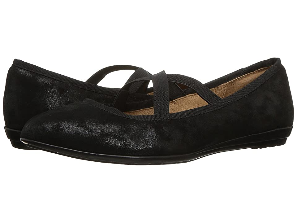 Sofft Barris (Black Distressed Foil Suede) Women