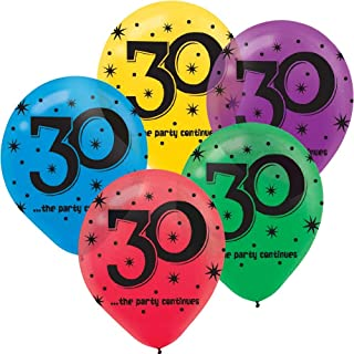30th Birthday Party Balloons - 15 ct