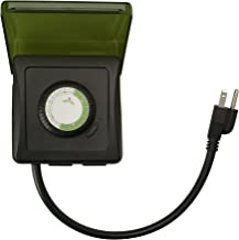 Woods 50012WD Outdoor 24-Hour Heavy Duty Mechanical Plug-In Timer, 2 Grounded Outlets
