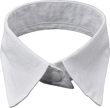 TRIXES Cuello Blanco Desmontable Cuello Curvo para Pajarita ...