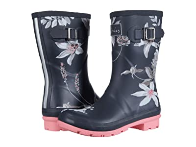 Joules Molly Welly (Drark Grey Floral) Women