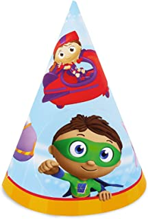 BirthdayExpress Super Why Party Supplies - Cone Hats (8)
