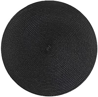 Gentle Meow Round Table Pads Bowl Pad PP Woven Table Mat Waterproof Placemat Anti-hot Pad(C)
