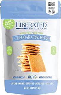 Liberated Cheddar Crackers, Low Carb