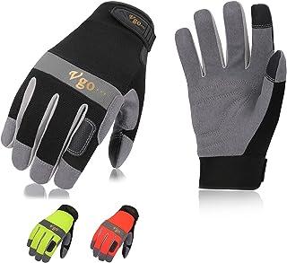 Vgo 1 Pair/3Pairs Safety Work Gloves,Builder Gloves,Gardening Gloves,Light Duty Mechanic Gloves(SL7584&SL7621)