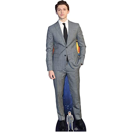 Star Cutouts Ltd- Tom Holland Lifesize Cardboard with Free Cut out 1 Recorte tamaño Real con 1 Mini cartón Recortado, Multicolor (CS756)