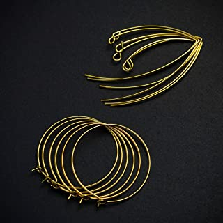 Hollosport 14k Genuine Gold Plated Earring Hooks for Jewelry Making,12Pcs Hypoallergenic Ear Wires for DIY Dangle Earrings