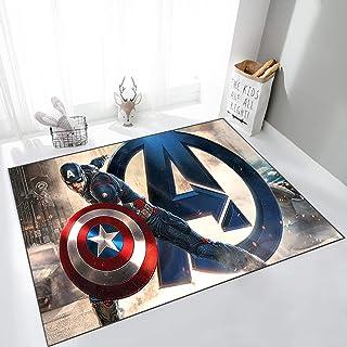 ZZXC Tapis Chambre Balcon Bureau Salon Buanderie Avengers Captain America Dessin Animé Anime Rectangle Chambre Décoration ...