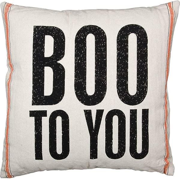 月个月 Acelive 英寸方形复古面粉袋米袋式吓唬你的万圣节麻布靠垫套抱枕案例沙发家居办公装饰