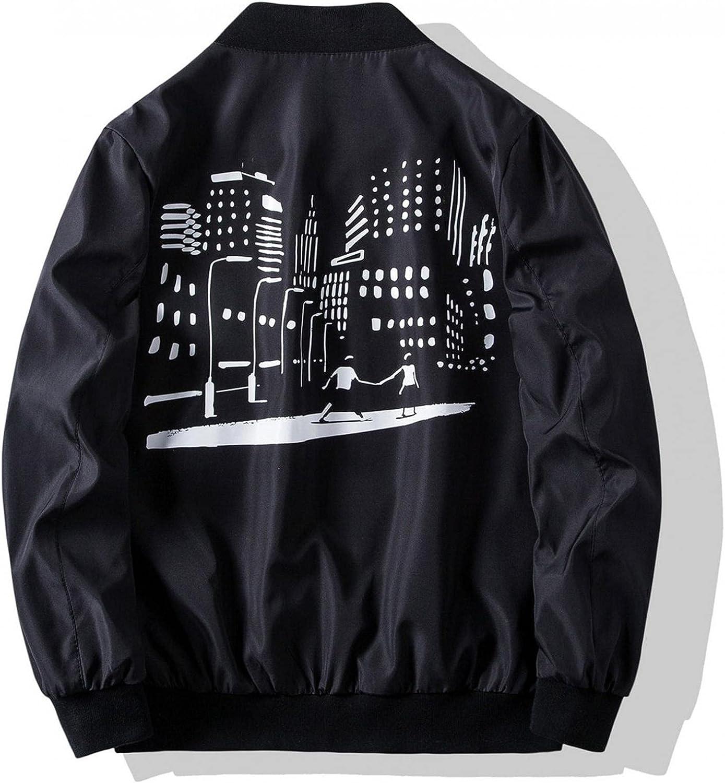Men's Bomber Jackets Slim Fit Lightweight Softshell Flight Jacket Coat Casual Full Zip Windbreakers Fashion Outerwear