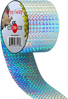 Premium Quality Bird Deterrent Reflective Scare Tape Ribbon 350 ft Long – Pest Control Dual-sided Repellent For Pigeons, G...