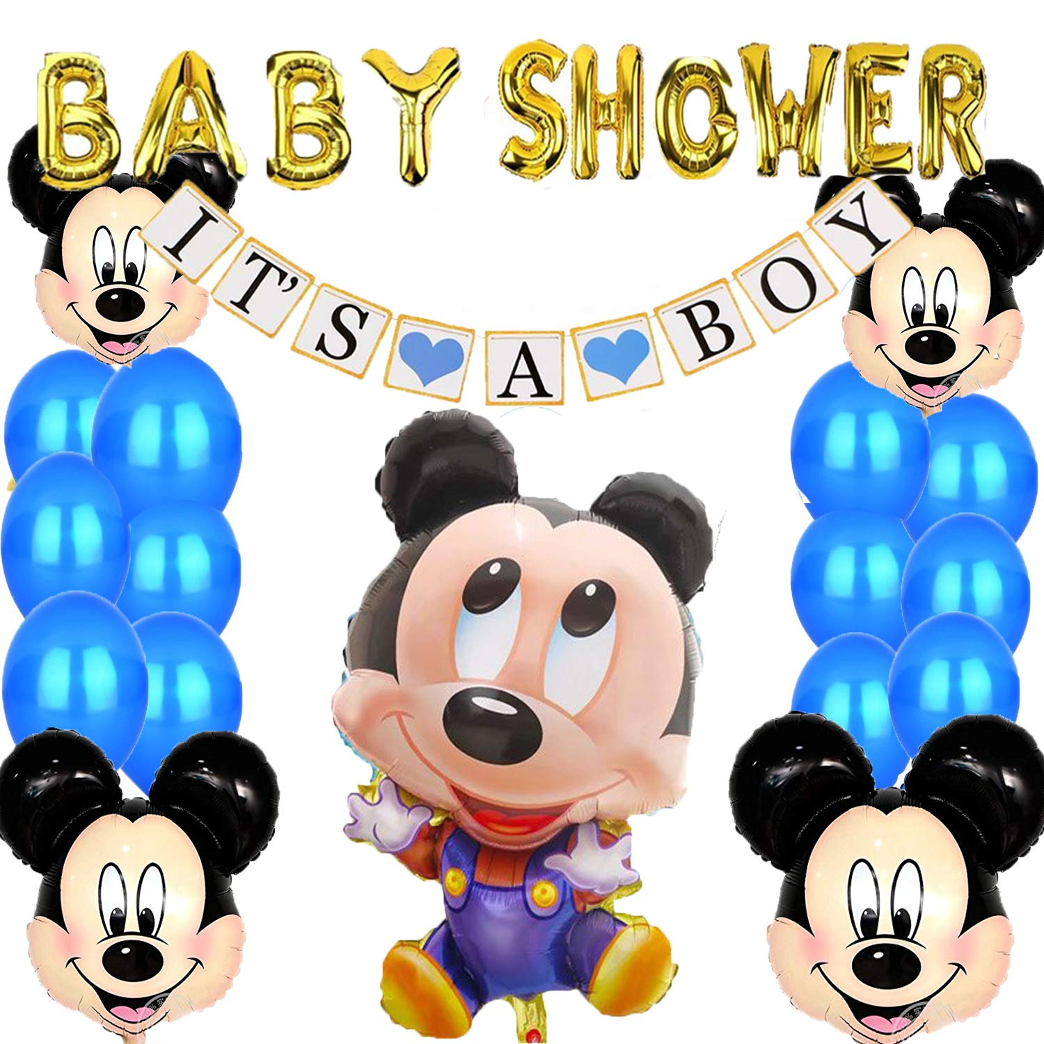 Mickey Mouse Baby Shower Decorations  from m.media-amazon.com